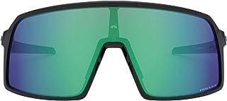 نظارات شمسية من اوكلي للرجال Oo9462 ساترو اس مستطيلة, (Polished Black/Prizm Jade), 28 mm