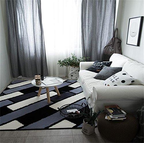 ENXI Frendly Thicken The Carpet Sofa Yoga Mat Woonkamer Koffie Tafel Slaapkamer Beddekens (Zwart) Veilige gezondheid