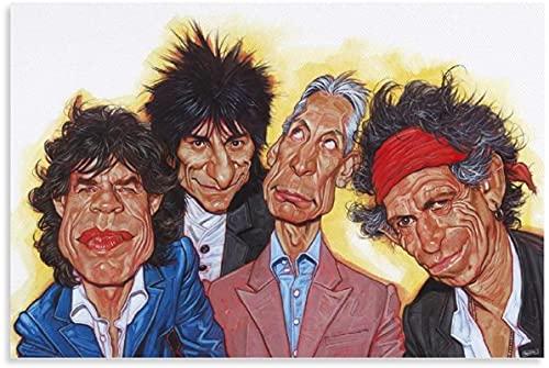 chuanglanja Lienzo Pintura Al Óleo 30x50cm Sin Marco Cómic The Rolling Stones Rock Classics Arte de Pared impresión de Imagen Moderna decoración de Dormitorio Familiar Carteles