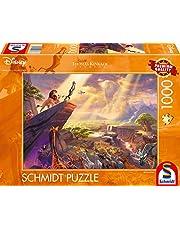 Schmidt Spiele 59673 Thomas Kinkade, Disney, Koning van de Leeuwen, puzzel van 1000 stukjes, kleurrijk