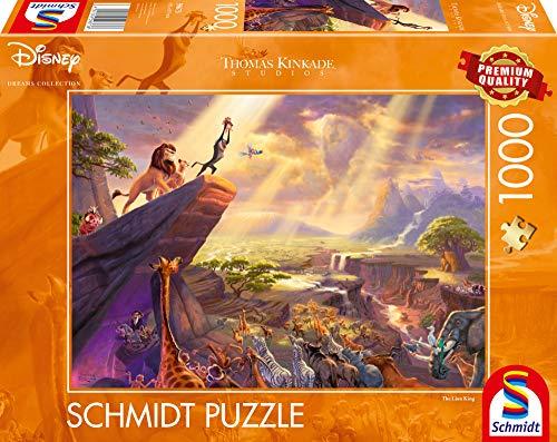 Schmidt Spiele- Thomas Kinkade, Puzzle da 1000 Pezzi, Motivo: Disney Re Leone, 59673