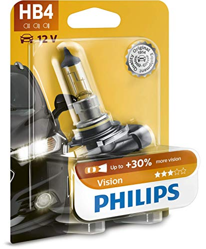Philips 9006PRB1 Premium - Bombilla HB4 para faros delanteros (1 unidad, 12 V, 51 W, P22d)