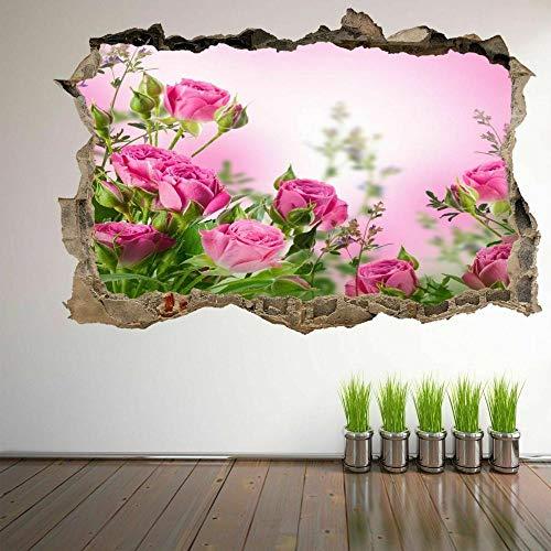 Pegatinas de pared Rose Flower Decorative Wall Art Stickers Mural Decal Home Beauty Shop Decor EP2