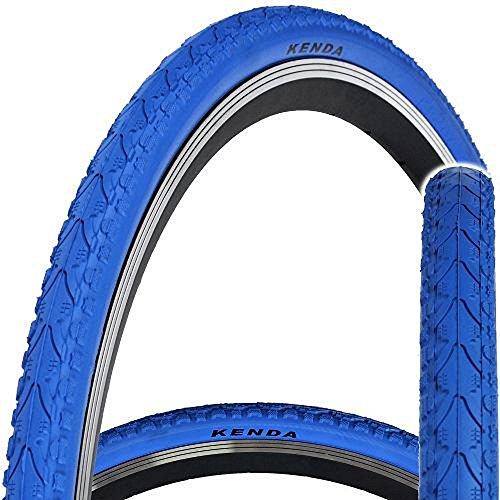 Kenda KHAN K935 - Cubierta para bicicleta,700x 38C, velocidad única, fija, Khan, azul