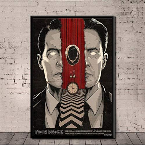 Jryuplzs Affiche Imprime Chaud Twin Peaks série télévisée Spectacle Classique Film Cadeau Toile Peinture Art Mur Photos décor à la Maison 40x60 cm sans Cadre
