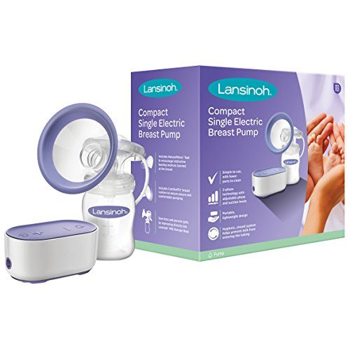 Lansinoh Breast Pump Compact Single Electric Breastpump for Breastfeeding mums
