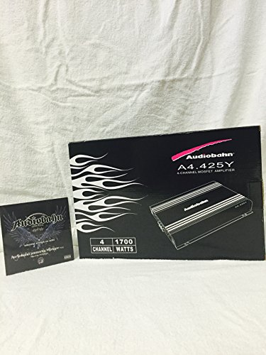 Learn More About NEW AUDIOBAHN A4.425Y 4 - CHANNEL 1700 WATTS MOSFET AMPLIFIER INCLUDES 20FT. RCA CA...
