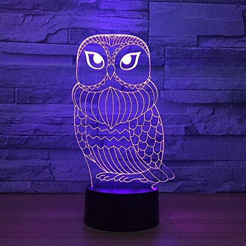 Festival Night Lamps 7 Colors Owl Led Usb Bird Remote Touch Switch Animal Desk Table Gift Atmosphere