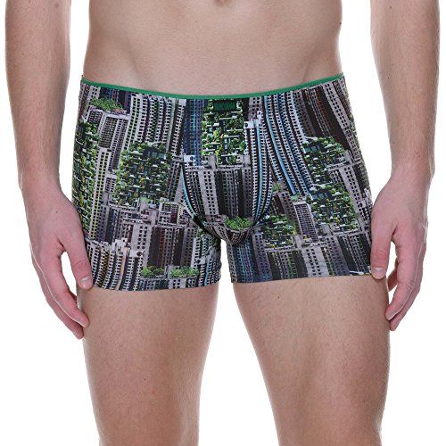bruno banani Herren Short Boxershorts, Mehrfarbig (Urban Jungle Print 2560), Small