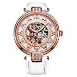 Best BUREI Automatic Watches - BUREI Women's Rose Gold Dial Skeleton Automatic Watch Review