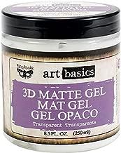 Prima Marketing Art Basics 3D Matte Gel, 8.5-Ounce, Transparent