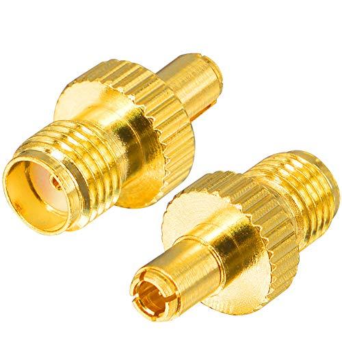 YILIANDUO 4G LTE Antenne Adapter SMA Buchse auf TS9 Stecker Gerader vergoldeter Anschluss für 4G LTE Antenne Hsdpa Huawei 2G 3G Antenne UMTS Mobiles Breitband 2er-Pack