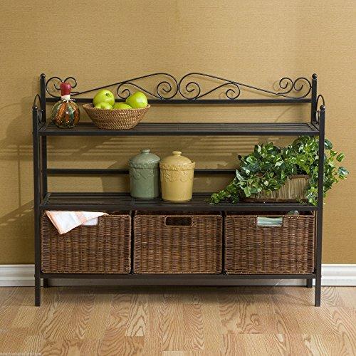(Ship from USA) Celtic 3-Drawer Baker's Rack Kitchen Shelf Storage Cabinet SEI Furniture KA9802 /ITEM NO#E8FH4F85466004