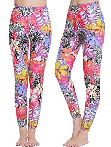 Fortuning's JDS® Mesdames Plume imprimé UPF 50+ à Long Surf Pantalons Piscine de plongée en apnée