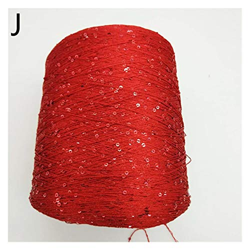 Bufanda 100g paillette hilado de lentejuelas aguja de lana perlas natural corbata corbata de encaje un hilo de nudo for tejer a mano de hilo de hilo de ganchillo suéter Bufandas de punto ( Color : J )