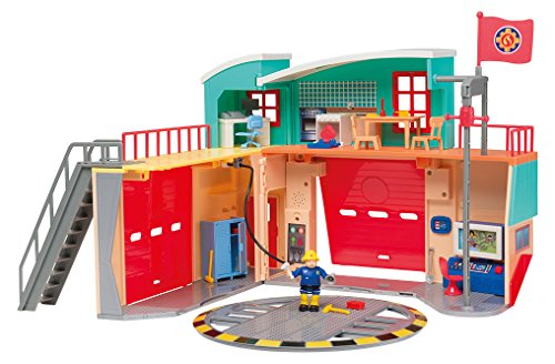 Smoby 109258282002 - Caserma dei pompieri Pontypandy, con 1 statuetta, batterie incluse