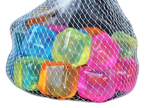 20 Party Eiswürfel aus Plastik Würfeleis Eis Coktailzubehör Würfel Kühlakku Neu