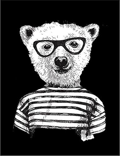 【FOX REPUBLIC】【オタクくま 熊】 黒光沢紙(フレーム無し)A2サイズ