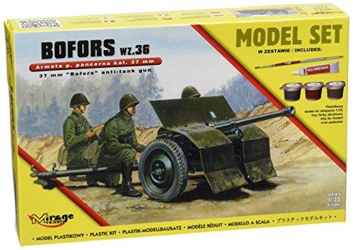 Mirage Hobby 835061 – Modélisme Jeu de 37 mm bofürs WZ 36 Anti Tank Gun