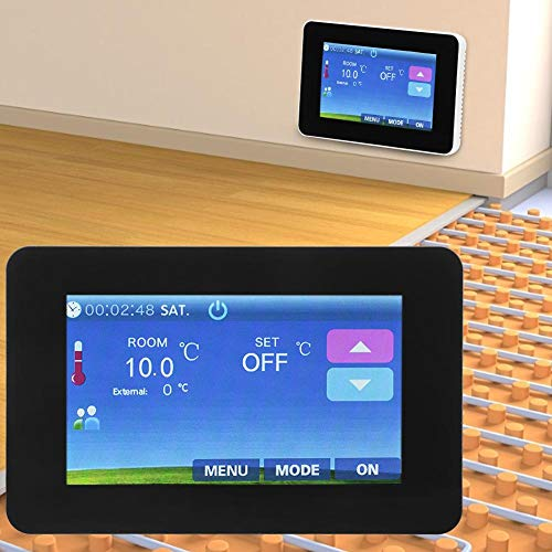 Thermostaat, 4,3 inch 16A touchscreen elektrische verwarming Thermostaat temperatuurregelaar voor vloerverwarming