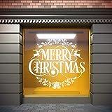 Vinilo Para Escaparates Decoración Navidad Merry christmas ciervos   100 cm de largo x 100 cm de alto   Vinilo Adhesivo   Decora tu escaparate   Pegatinas Adhesivas Escaparate   Vinilos para negocios