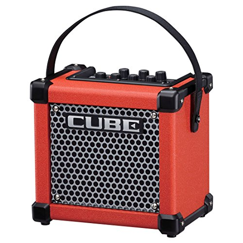 Affordable Roland Micro Cube GX 3W 1x5 Battery Powered Guitar Combo Amp Red