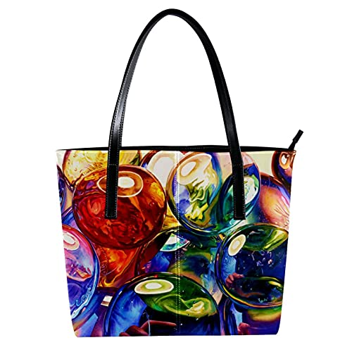 LORVIES - Jarrón de cristal con bandolera de piel sintética y bolsos...
