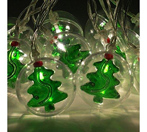 Christmas Workshop 10 LED Lampes de Sapins de Noël en Clair Boule de boules de Noël 5 cm, plastique, Transparent,