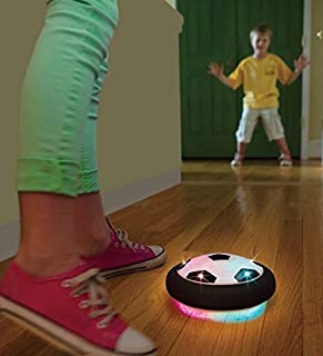 HearthSong Light-Up Air Soccer Indoor Outdoor Hover Ball Blinking Lights Protects Furniture Kids Toys Active Play 7