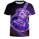 Camisetas Manga Corta Hombre Impresión Digital 3D Más Suelta Y Cómoda para Bandas Y Guitarras-T1366_Metro