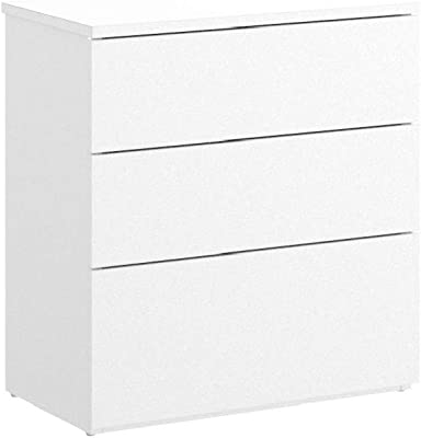 Cajonera Ikea Kullen, con 3 cajones, plástico, Blanco ...