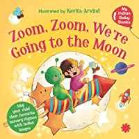 Zoom zoom we're going to the moon for your Indian baby