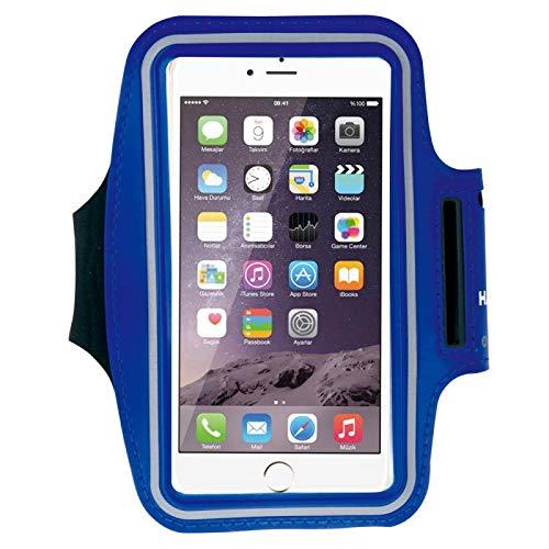 Caja de Brazalete Deportiva con Orificio de Auriculares y Bolsillo de Llave, para iPhone XS, iPhone XS MAX, iPhone X, iPhone 8 Plus y 7 Plus, iPhone 6 Plus, Galaxy S9 + / S8 + / S6 / S5.