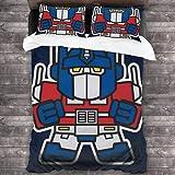 NBAOBAO Juego de ropa de cama de Transformers, Megatron, impresión digital 3D, 100% microfibra, sin relleno, fácil cuidado (NO-3,200 x 200 cm + 50 x 75 cm x 2)