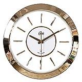 BRIGHTZ Reloj de pared, reloj silencioso, reloj de pared de cuarzo horometer vidrio, plástico, marco de la tapa horologe...
