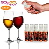 Australia's Secret! NEW SPRAY! Wine Allergy Sensitivity Prevention Wine Sulfite Remover Better Than Hangover Prevention Remedies & Wine Filters Stops Red Wine Headaches Nausea IBS (5 Pack)