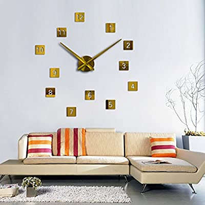 Treading - new wall clock diy clocks reloj de pared quartz watch europe living room large
