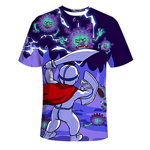 COVID-19 Corona Virus Essentiele Arbeiders Unisex-T-shirt van (Size : L)