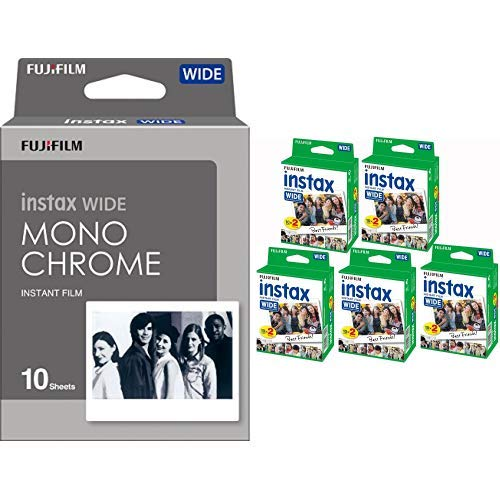 Fujifilm Instax Wide Monochrome Filme &  Instax–5Boxen à 20Fotopapiere (100Fotos im breiten Format) für Fuji Instax 210