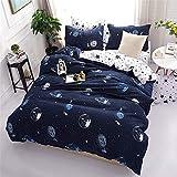 QXbecky Biancheria da letto copriletto trapuntato con stella stellata federa 3,4 pezzi letto matrimoniale king star wars CN-Queen