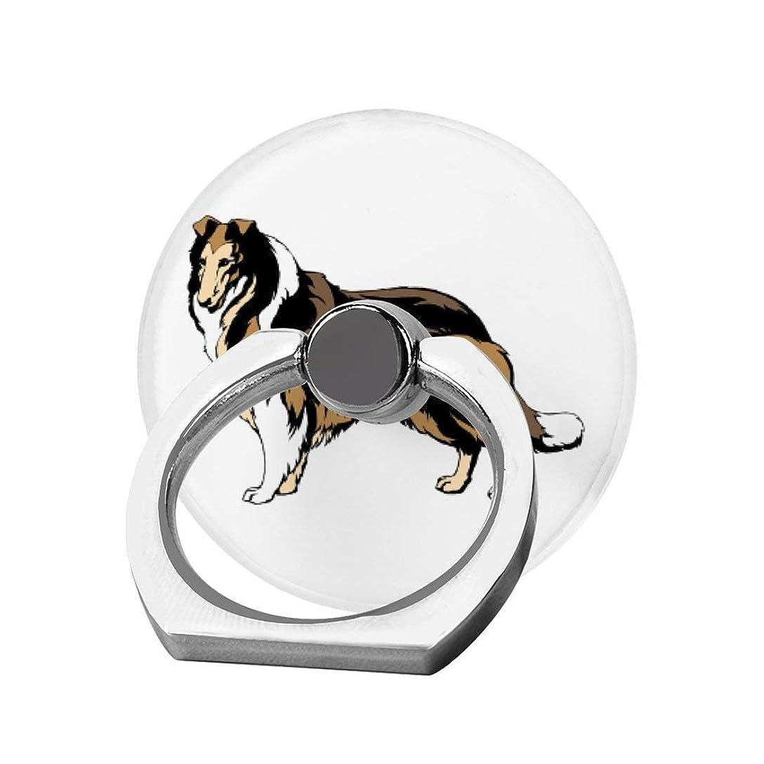 ホラーカトリック教徒褒賞スマホリング 携帯リング 指リング 薄型 落下防止 スタンド機能 ボーダー コリー 犬 バンカーリング 指輪リング タブレット/各種他対応 360回転 スマホブラケット