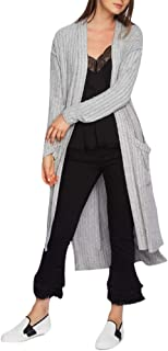 1.state Ribbed Duster Cardigan Grey Size Large