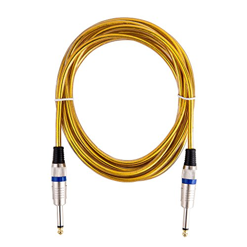 Bearstar 20 FT Zinc Metal Terminal Golden OFC Micriophone Cable Guitar Cable Premium Musical Instrument Cable