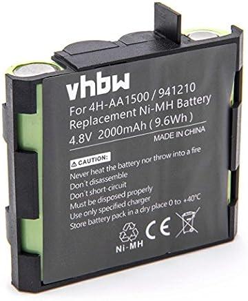 vhbw NiMH Batterie 2000mAh pour simulateur Musculaire Compex PerformanceE Mi-Ready, Runner, SP 2.0, SP 4.0, Sport Elite, Vitality