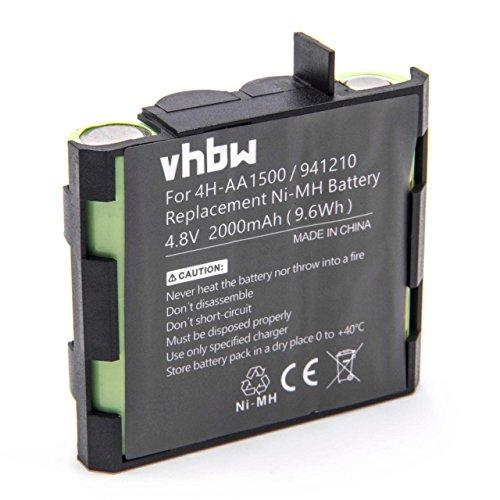 vhbw NiMH batería 2000mAh 4.8V para tecnología médica como estimulador muscular Compex Edge US, Energy, Energy Mi-Ready, Energy, Energy Mi-ready, Fit
