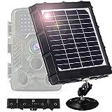 Braveking1 Cámara de Caza Panel Solar Trail Game Camera IP66 Impermeable DC 6V/9V/12V 8000mAh 3W Banco de Energía Solar Cargador Portátil con Cable de Carga USB Otoño Kit de Instalación Incluido