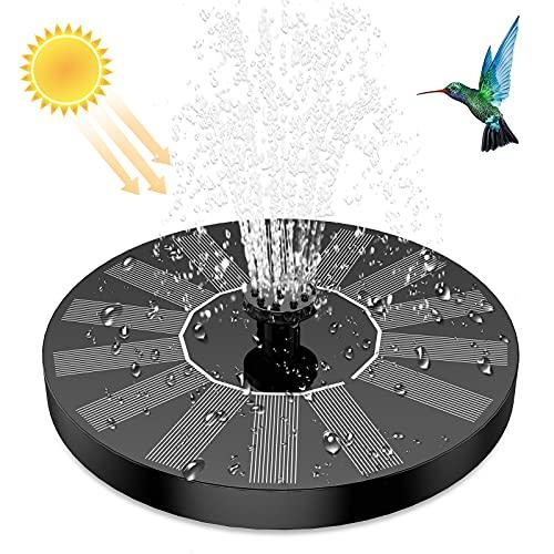 AISITIN Fontaine Solaire Extérieur Flottante, Pompe Solaire d'étang à 6 Buses, Fontaine Solaire pour Jardins, Bains d'oiseaux