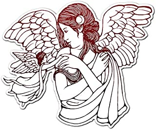 Woman Angel with Baby - Vinyl Decal Sticker - 14.5