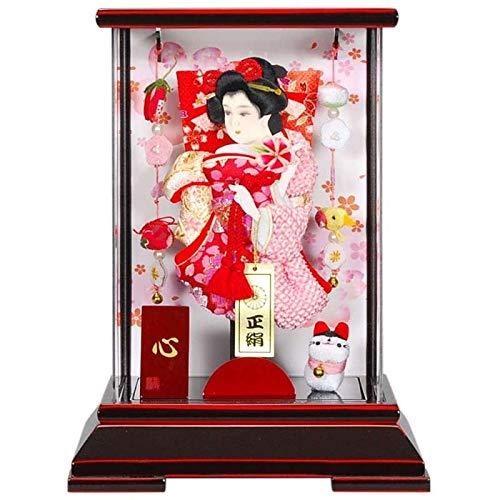 羽子板 ケース入り 心(こころ) 7号 高さ30cm (sb-8-7) 会津/赤塗 正月飾り