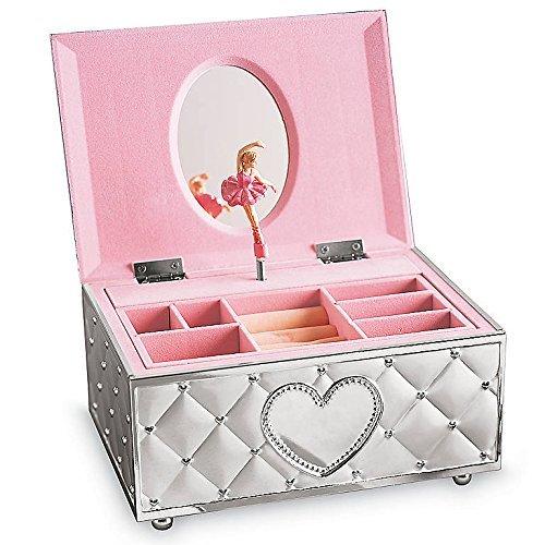 Lenox Childhood Memories Musical Ballerina Jewelry Box, 2.35 LB, Metallic